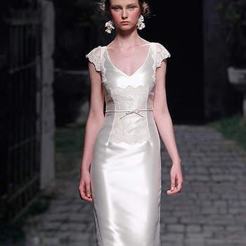 Muy pocos vestidos han incluído bajo de faralaes. Foto: Barcelona Bridal Week