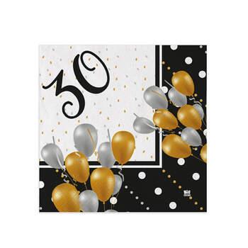 Servilletas 30 años 20 unidades- Compra en The Wedding Shop