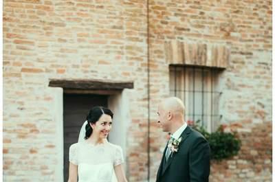 Cristina e Filippo, nel giorno del loro matrimonio. Foto via lefrufru.com