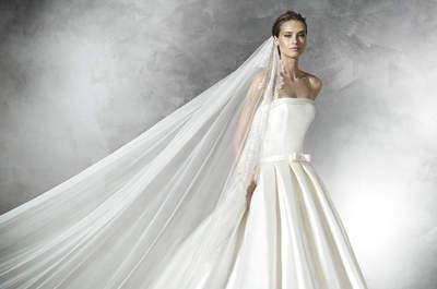 Tendencias 2016 en vestidos de novia para mujeres altas. ¡Sácale partido a tu altura!