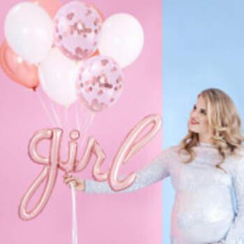 Ballon Girl Rose Gold - The Wedding Shop !