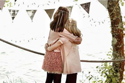 NANOS vestidos de color rosa palo