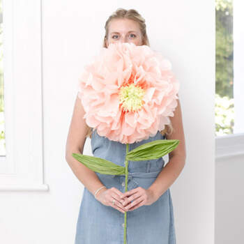Peonia gigante de papel- Compra en The Wedding Shop