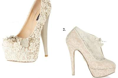 Chaussures de mariage blanches originales