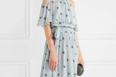 Elige uno de estos vestidos de fiesta de color azul y arrasa