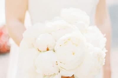 Ramos de novia con peonías. ¡Delicadas y elegantes propuestas!