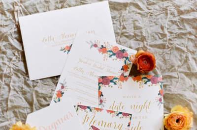 Invitaciones súper originales para una boda en otoño: Los diseños más originales