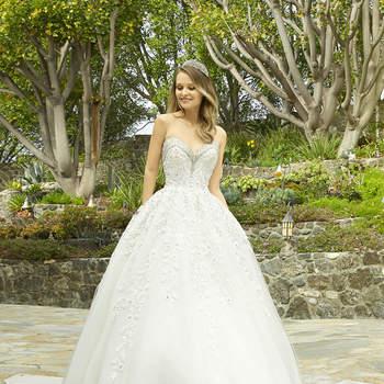 Style H1338. Credits- Moonlight Bridal.