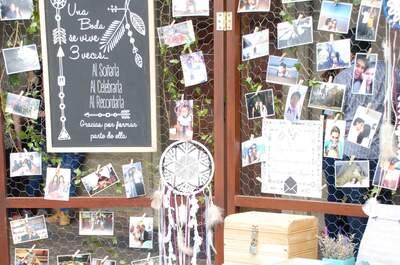Mural de fotos y recuerdos para tu boda: ¡Te damos algunos consejos!