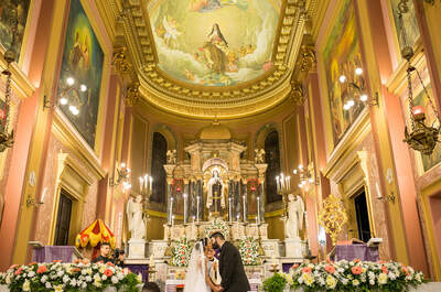 Casamento de Jéssica & Leandro: decoração rústico chic com noiva LINDA!