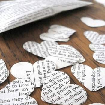 Photo: Shakespeare wedding confetti by Bookity