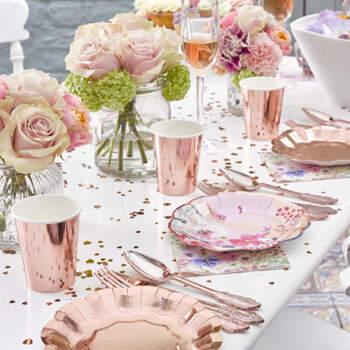 Vasos Dulce Rosa Gold 8 Unidades- Compra en The Wedding Shop