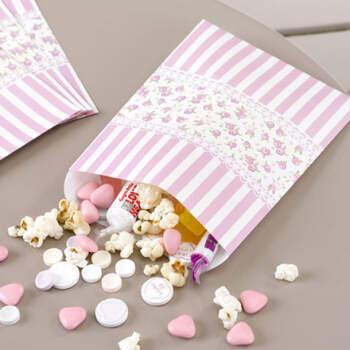 Bolsas Para candy bar Rosas y Rayas 25 unidades- Compra en The Wedding Shop