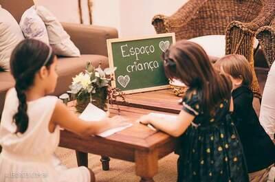 5 ideias criativas e de baixo custo para decorar o espaço das crianças em um casamento