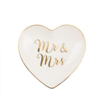 Plato Corazón Mr y Mrs- Compra en The Wedding Shop