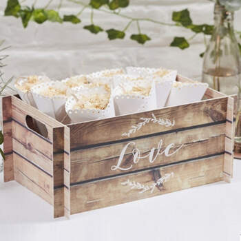 Cajita decorativa de madera- Compra en The Wedding Shop