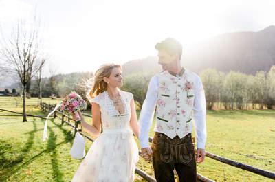 Bayerische Hochzeit mit Hüttenzauber – Foto-Shooting im winterlichen Vorfrühling!