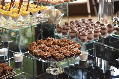 Mesa de postres gourmet con Kokosnuss Repostería