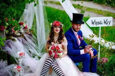 Ślub i sesja inspirowana Alicją w Krainie Czarów! Magiczna!