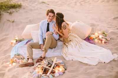 Un toque bohemio chic para una Real Wedding en la playa