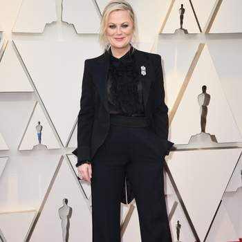 Amy Poehler com terno de Alberta Ferretti / Cordon Press