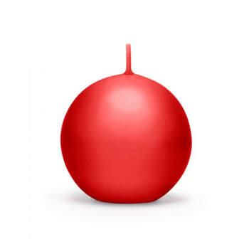 Vela esfera roja media 6 pz- Compra en The Wedding Shop