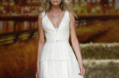 Vestidos de noiva Inmaculada García 2016: frescura e elegância