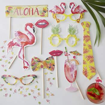 Atrezzo photocall love hawaii 10 unidades- Compra en The Wedding Shop