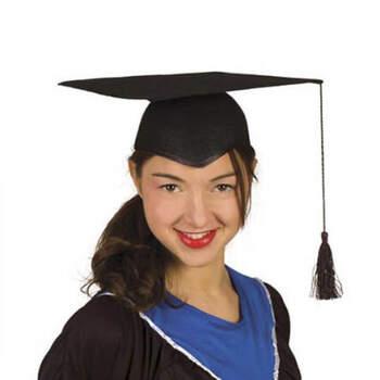 Sombrero de Graduación de Fieltro Negro- Compra en The Wedding Shop