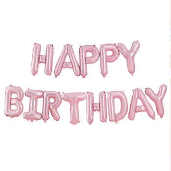 Guirnalda de globos de cumpleaños feliz - Compra en The Wedding Shop