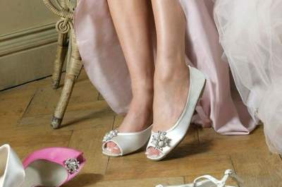 Ballerinas als Brautschuhe zum Hochzeitskleid