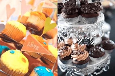 Deli deli: elige una mesa de postres con cupcakes para tu boda
