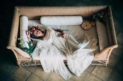 Une mariée au look des années 70 : la tendance du printemps 2015