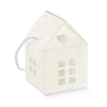 Boîte À Faveurs Harmony Petite Maison Avec Ficelle 10 -  The Wedding Shop !
