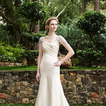 Casablanca Bridal Collection; Fall 2016: Olive 2253