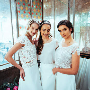 Photo : Guillaume Gilles - Elsa Gary, robes de mariée Futur, Oxygène et Singulière