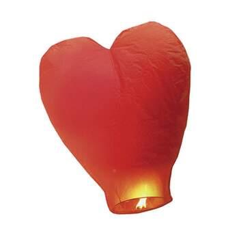 Lanterne Volante Cœur Rouge - The Wedding Shop
