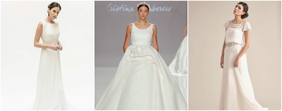 Hermosos y clásicos vestidos de novia escote redondo. ¡Elige tu favorito!