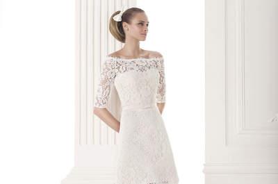 Короткие свадебные платья 2015 - смело и неожиданно!