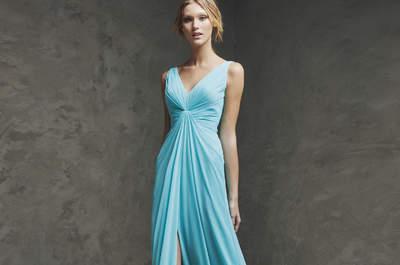 Elige uno de estos vestidos de fiesta de color azul 2016 y arrasa