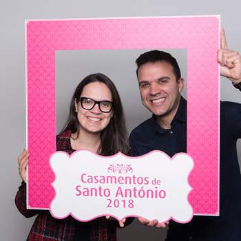 """<p><b>Marina Fonte Boa &amp; Renã Santiago</b><p>Estrela e Santo António<p>A Marina  é Designer de Interiores; o Renã é Empregado de  Mesa. Vão ter um casamento católico.<p>Como casal, querem ser """"felizes para sempre""""."""