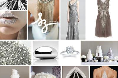 Una boda en color plata: Refleja el glamour de ese día especial con una decoración impresionante
