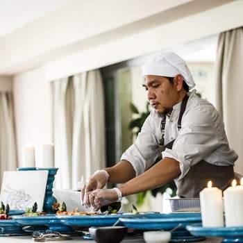 Corner de comida turca en finca La Muñoza con el Catering The Cook. Credits: Esif Fotografia