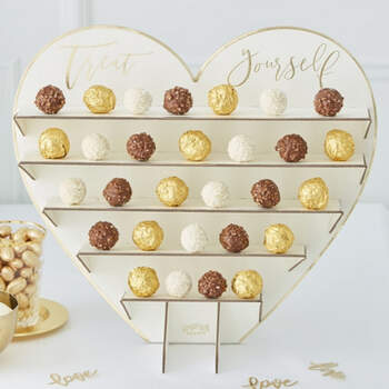 Soporte chocolates oro boda- Compra en The Wedding Shop