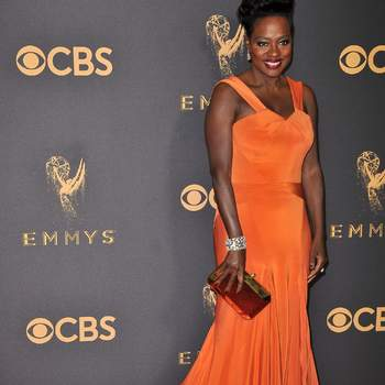 Viola Davis de Zac Posen. Credits: Cordon Press