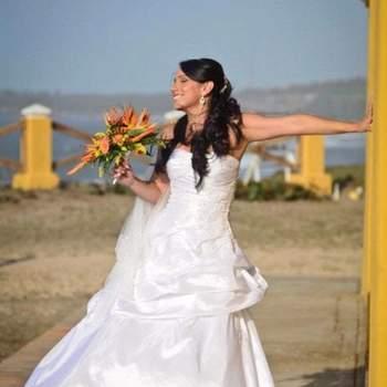 La novia lista para la boda