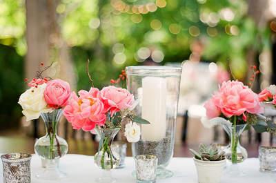 DIY pour le mariage : faites vos centres de table avec des fleurs fraîches