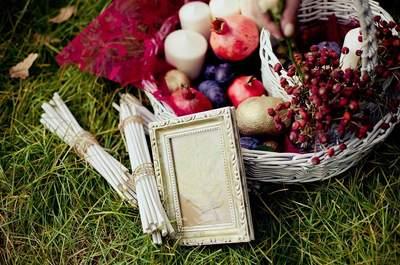 Как украсить осеннюю свадьбу?