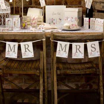 Banderines Sr. y Sra. Dulce Amor- Compra en The Wedding Shop