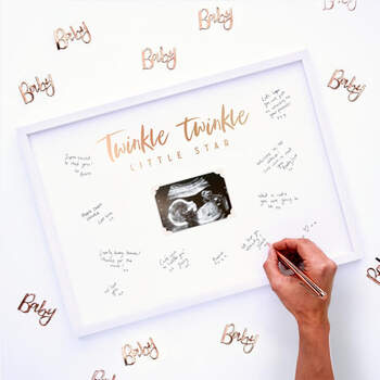 Libro de Firmas baby gold- Compra en The Wedding Shop